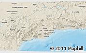 Shaded Relief 3D Map of Málaga
