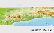 Physical Panoramic Map of Málaga