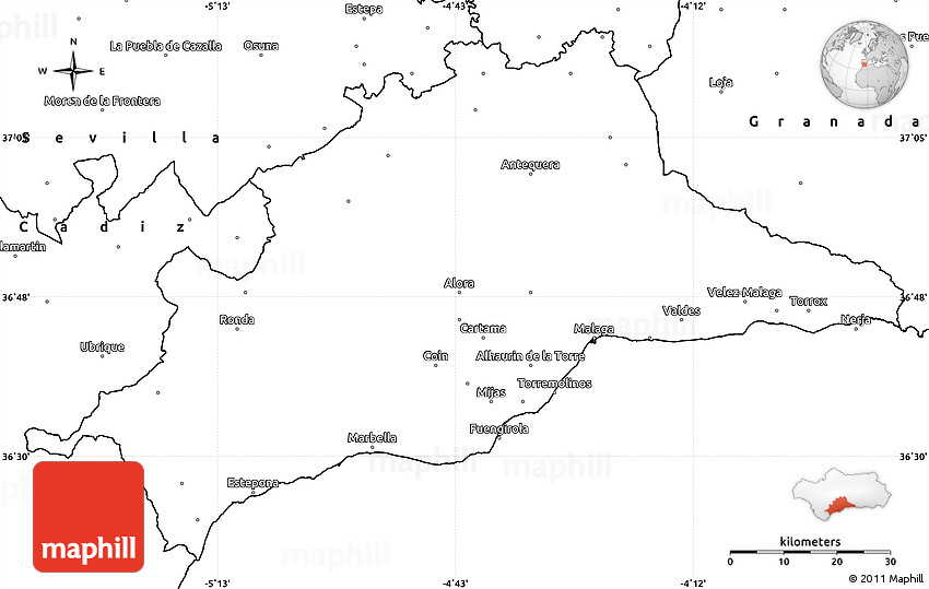 Blank simple map of mlaga gumiabroncs Image collections