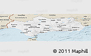 Classic Style Panoramic Map of Andalucia