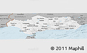 Gray Panoramic Map of Andalucia