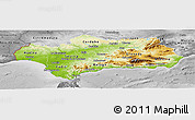 Physical Panoramic Map of Andalucia, desaturated