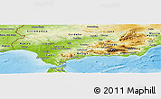 Physical Panoramic Map of Andalucia