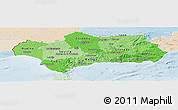 Political Shades Panoramic Map of Andalucia, lighten