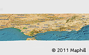 Satellite Panoramic Map of Andalucia
