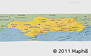 Savanna Style Panoramic Map of Andalucia