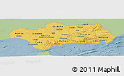 Savanna Style Panoramic Map of Andalucia, single color outside