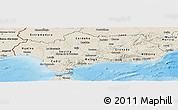 Shaded Relief Panoramic Map of Andalucia