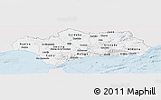 Silver Style Panoramic Map of Andalucia, single color outside