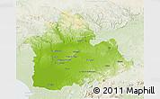 Physical 3D Map of Sevilla, lighten