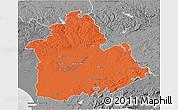 Political 3D Map of Sevilla, desaturated