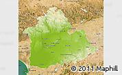 Physical Map of Sevilla, satellite outside