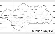 Blank Simple Map of Andalucia, cropped outside