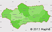 Political Shades Simple Map of Andalucia, cropped outside