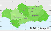Political Shades Simple Map of Andalucia, single color outside