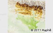 Physical 3D Map of Huesca, lighten