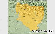 Savanna Style 3D Map of Huesca