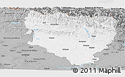 Gray Panoramic Map of Huesca