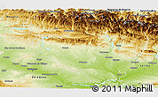 Physical Panoramic Map of Huesca
