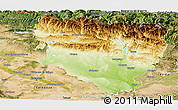 Physical Panoramic Map of Huesca, satellite outside