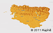 Political Panoramic Map of Huesca, cropped outside