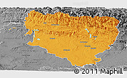 Political Panoramic Map of Huesca, desaturated