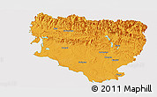 Political Panoramic Map of Huesca, single color outside