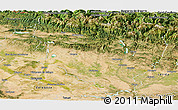 Satellite Panoramic Map of Huesca