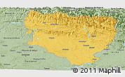 Savanna Style Panoramic Map of Huesca