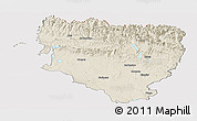 Shaded Relief Panoramic Map of Huesca, cropped outside