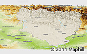 Shaded Relief Panoramic Map of Huesca, physical outside
