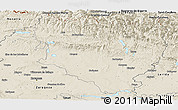 Shaded Relief Panoramic Map of Huesca