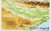 Physical Panoramic Map of Aragón