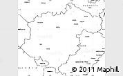 Blank Simple Map of Teruel