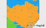 Political Simple Map of Teruel
