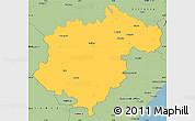 Savanna Style Simple Map of Teruel