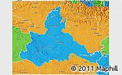 Political 3D Map of Zaragoza