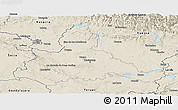 Shaded Relief Panoramic Map of Zaragoza