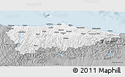 Gray 3D Map of Asturias