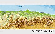 Physical 3D Map of Asturias