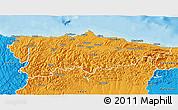 Political 3D Map of Asturias