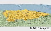 Savanna Style 3D Map of Asturias