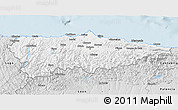 Silver Style 3D Map of Asturias