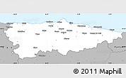 Gray Simple Map of Asturias
