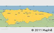 Savanna Style Simple Map of Asturias