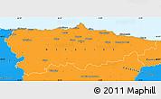 Political Simple Map of Asturias