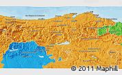 Political 3D Map of Cantabria