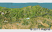 Satellite 3D Map of Cantabria