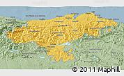 Savanna Style 3D Map of Cantabria