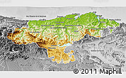 Physical 3D Map of Cantabria, desaturated